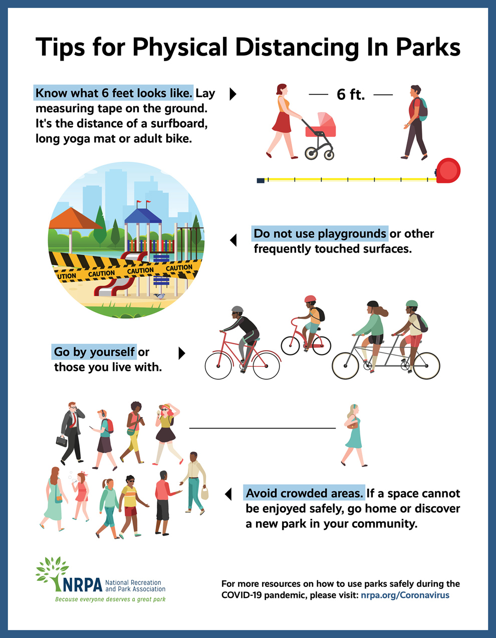 Tips for Physical Distancing in Parks - National Recreation and Park Association (NRPA) www.nrpa.org