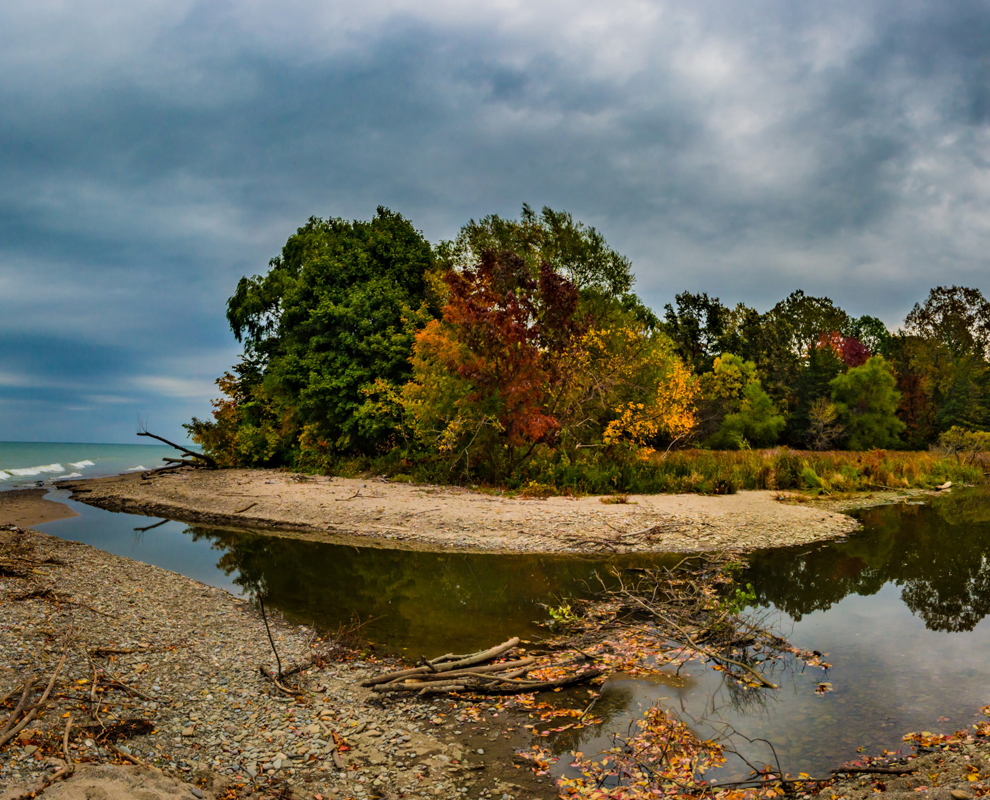 Arcola Creek Park - fall colors - Lake Erie - Lake Metroparks - photo by Jim Marquardt