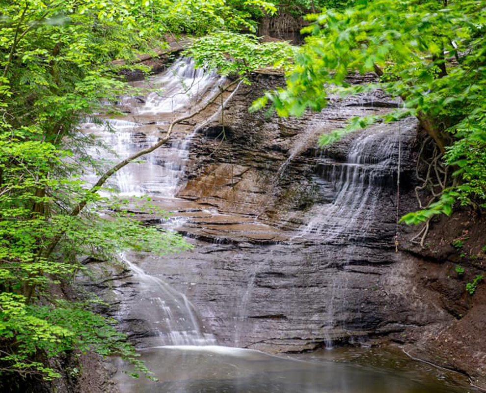 Chair Factory Falls - Greenway Corridor - park - waterfall - Jacob's Creek - Lake Metroparks - photo by Ty Whiting