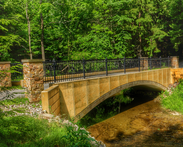 Environmental Learning Center - park - trees - bridge - Lake Metroparks - photo by Kevin Vail