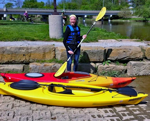 Grand River Landing - kayaks - boat launch - Lake MetroparksJim Marquardt