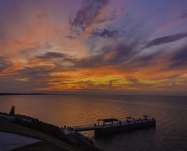 Painesville Township Park - Lake Erie - pier - sunset - Lake Metroparks - photo by Andrew Cross
