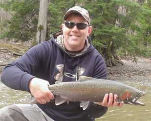Steelhead are active in the Grand River