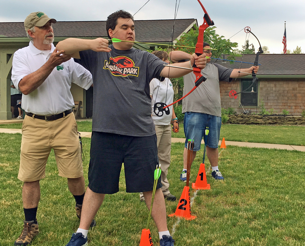 Adapted program - archery - bow - arrow - Lake Metroparks