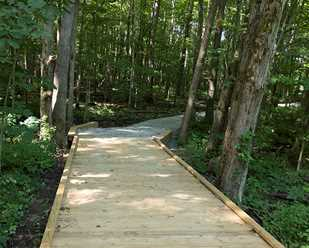 New Trail & Wetlands Access<br> at Hidden Lake